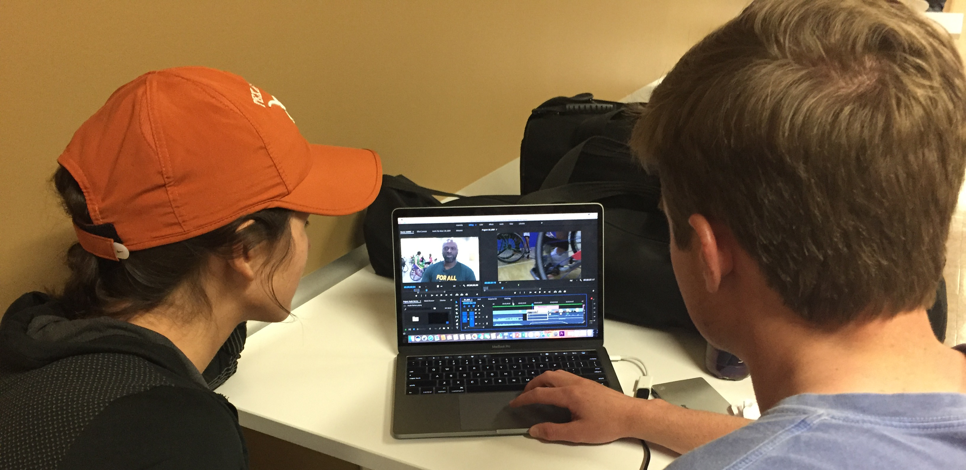 Students edit sports documentary
