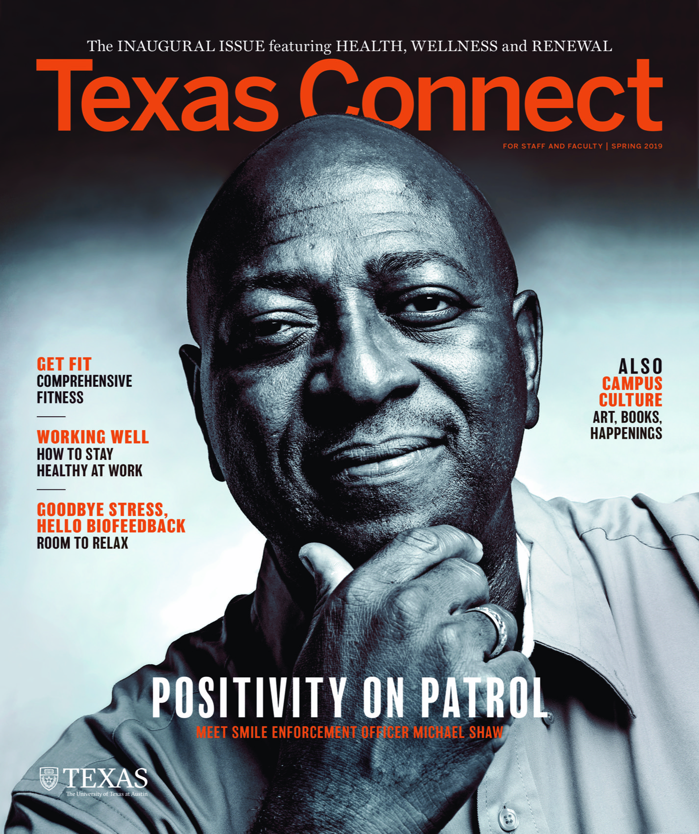 Cover of UT faculty magazine, Texas Connect